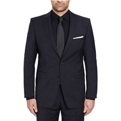 Digel Suit - Modern Fit 100% Italian Wool - Natural Stretch - Black