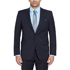 Digel Suit - Modern Fit 100% Italian Wool - Natural Stretch - Dark Blue