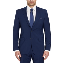 Digel Suit - Modern Fit 100% Italian Wool - Natural Stretch - Marine Blue