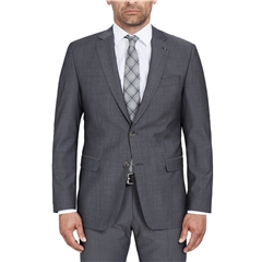 Digel Suit - Modern Fit 100% Italian Wool - Natural Stretch - Mid Grey
