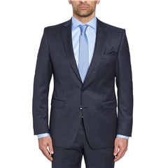 Digel Suit - Modern Fit 100% Italian Wool - Finest quality - Navy Blue Neat