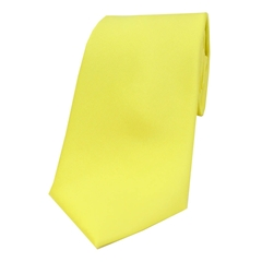 The Silk Tie Company - Canary Yellow - 100% Satin Silk Tie