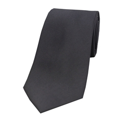 The Silk Tie Company - Slate Grey - 100% Satin Silk Tie