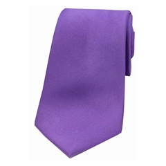 The Silk Tie Company - Purple - 100% Satin Silk Tie
