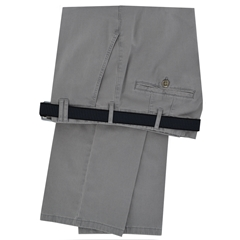 Meyer Luxury Cotton & Silk Trousers - Grey - Special Selection Range - Size 38L Only