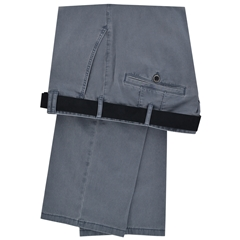 Meyer Luxury Cotton & Silk Trousers - Blue - Special Selection Range
