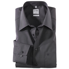 Olymp Comfort Fit Shirt - Kent Collar - Black