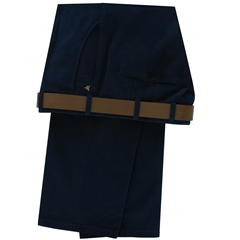 Meyer Trousers Luxury Cotton & Wool - Blue