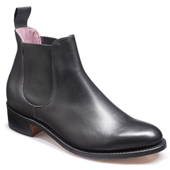 New 2018 Barker Ladies Shoes Style: Violet - Black Calf / Black Elastic