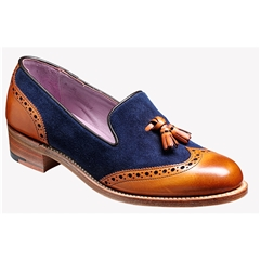 New 2018 Barker Women's Shoes Style: Amber - Cedar Calf/ Blue Suede