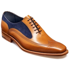 Barker Shoes Style: Harding - Cedar Calf / Navy Suede