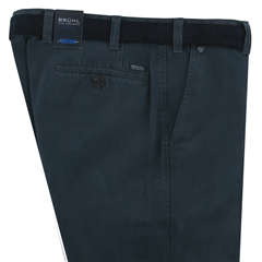 Bruhl Cotton Thermo Trouser - Navy - Chester 182730 680