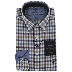 Fynch-Hatton Shirt - Navy Amethyst Check - Size L & XXL Only