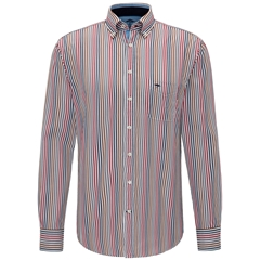 Fynch-Hatton Shirt - Navy Blue Hightwist Cotton Check - Size L, XL & XXL Only