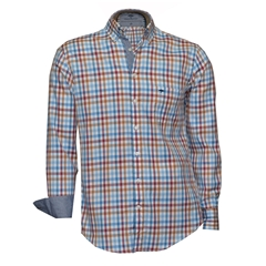 Fynch-Hatton Shirt - Flame Blue Check - Size L & XXL