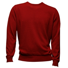 Fynch-Hatton Cashmere Crew Neck - Crimson - Size M & L Only