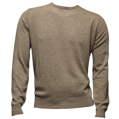 Fynch Hatton Wool & Cashmere Crew Neck - Beige - Size XXL & 3XL Only
