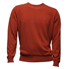 Fynch Hatton Wool & Cashmere Crew Neck - Chutney