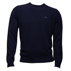 Fynch Hatton Wool & Cashmere Crew Neck - Night - Size XXL Only