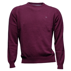 Fynch Hatton Wool & Cashmere Crew Neck - Cranberry