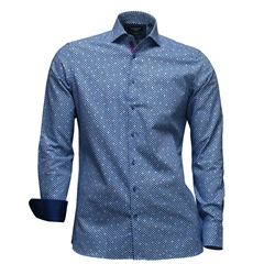 Autumn 2017 Giordano Shirt - Diamonds With Random Colours - Modern Fit - Large Only