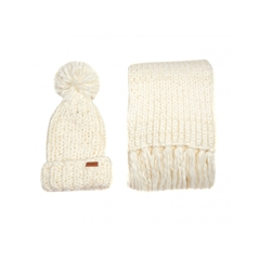 Autumn 2017 Women's Barbour Chunky knit Hat & Scarf