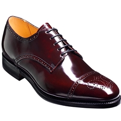 Barker Shoes Style: Perth Burgundy - Size 6