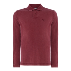 Autumn 2017 Barbour Long Sleeve Washed Polo- Port