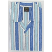 Cotton Flannelette Pyjamas - Blue