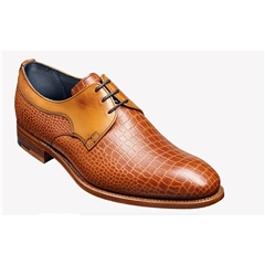 New 2018 Barker Shoes Style: Benedict - Chestnut Croc/calf