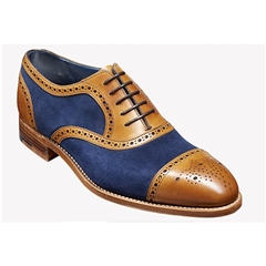 New 2018 Barker Shoes Style: Hursley - Cedar Calf/ Navy Suede