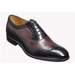 New 2018 Barker Shoes Style: Lamport - Burgundy Deerskin Black Hi-Shine