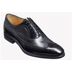 New 2018 Barker Shoes Style: Lamport - Black Deerskin/ Black Hi-Shine
