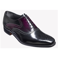 New 2018 Barker Shoes Style: Langley - Black/Aubergine Hi Shine