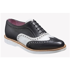 New 2018 Women's Barker Shoes Style: Josie - Black/ White Calf