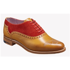 New 2018 Women's Barker Shoes Style: Gwen - Cedar Calf/ Red Suede