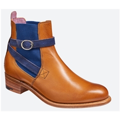 New 2018 Women's Barker Shoes Style: Alexandra Cedar Calf/Blue Strap