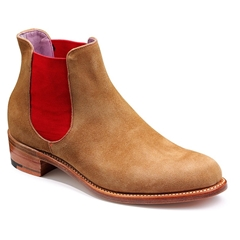 New 2018 Women's Barker Shoes Style: Violet - Snuff Suede/ Red Elastic
