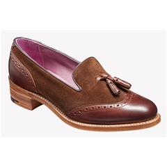 New 2018 Barker Women's Shoes Style: Amber -Walnut Calf/ Castagnia Suede