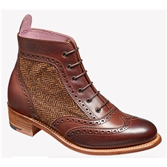New 2018 Barker Ladies Shoes Style: Grace - Walnut Calf/ Brown Tweed