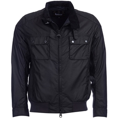 New 2018 Barbour Men's International Enfield Wax Jacket - Black