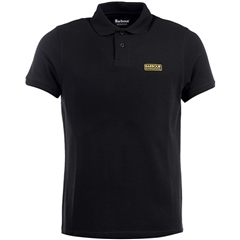 New 2018 Barbour Men's International Essential Polo - Black