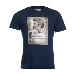 New 2018 Barbour Men's Intl Steve McQueen Profile Tee - Navy
