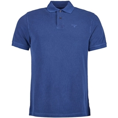 New 2018 Barbour Men's Washed Sports Polo - Navy