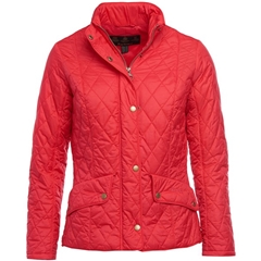 New 2018 Barbour Women's Flyweight Cavalry Quilted Jacket - Raspberry Ripple