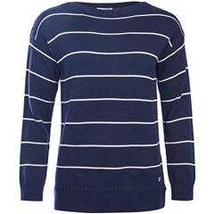 New 2018 Barbour Women's Barnavle Knit Jumper - Navy
