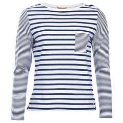 New 2018 Barbour Women's Barnacle Top - Cloud/Navy