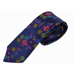 Van Buck Limited Edition - Navy Blue Floral Design Tie