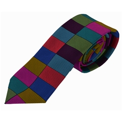 Van Buck Limited Edition - Multi Coloured Check Design Tie