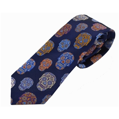 Van Buck Limited Edition - Navy Sugar Skull Design Tie